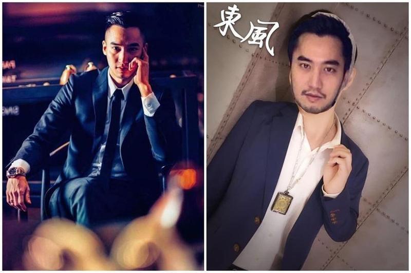 賴弘國被牛郎店盜用照片當成招牌吸客,昨天傳了二張朋友幫他後製的圖,還幫他取了藝名「東風」。(翻攝自IG 、翻攝自網路)