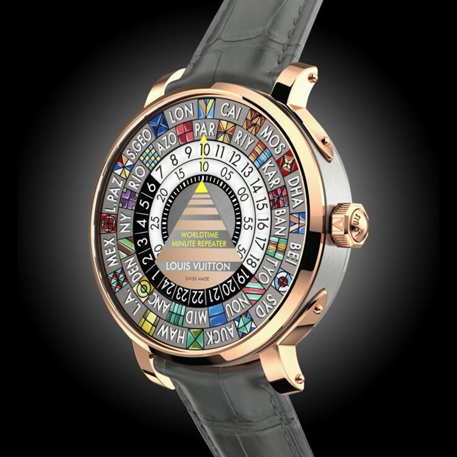 Escale Worldtime三問錶,是世界時區功能的延伸之作,有別於一般三問錶報的是當地時間,這款是報時家鄉時間,像是為了一解旅人的鄉愁,概念有點浪漫。