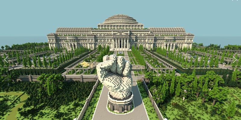 無國界記者組織在Minecraft裡打造了一座虛擬圖書館,存放因政府審查被禁止的報導。(翻攝自rsf.org)