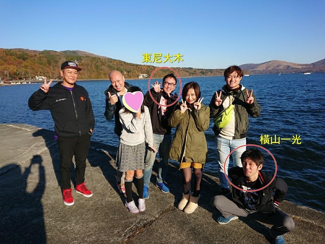 去年11月,東尼大木、橫山一光與AV前輩Pierre劍(左二)等一行人出遊,竟傳出強姦事件。(網路圖片)