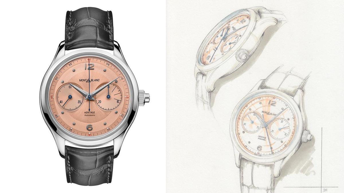 Heritage單按把計時碼錶|錶徑42mm、不鏽鋼錶殼、MB 25.12自動上鏈機芯、時間指示、單按把計時碼錶功能、防水50米、建議售價USD 4,950 (換算約NTD 150,000)