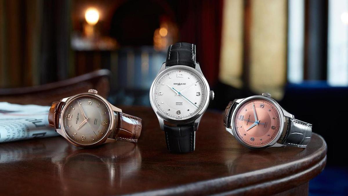 MONTBLANC萬寶龍2019年發表的新系列Heritage,設計靈感是源自40至50年代之間的Minerva古董錶款。圖為萬寶龍去年發表的Heritage大三針款式。