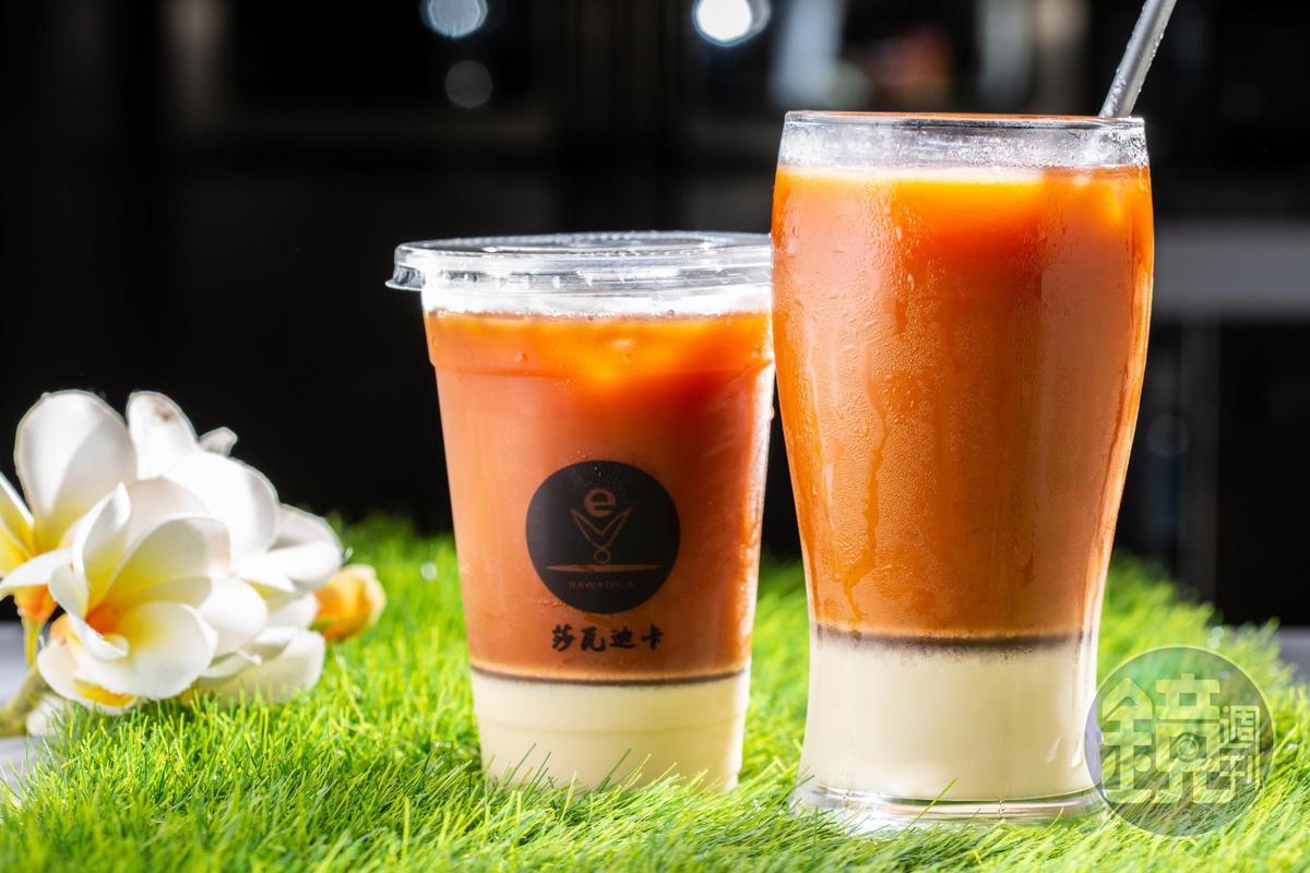 「泰式奶茶」茶香濃郁,不會太死甜。(70元/杯)