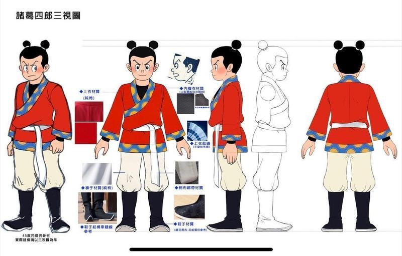 《英雄的英雄》角色服裝布料紋理擬真寫實,但依舊保有卡通式的舒服質感。(童年漫畫提供)