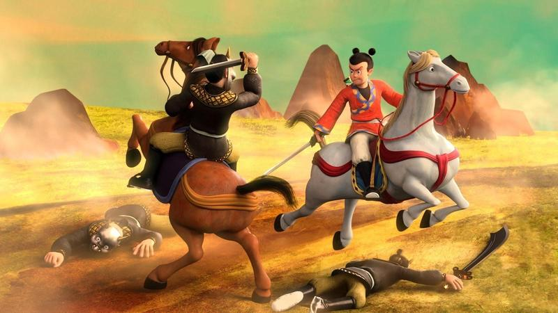 3D動畫電影《英雄的英雄》改編自台灣本土漫畫《諸葛四郎》,透過新技術賦予沉寂多年的IP新生命力。(童年漫畫提供)