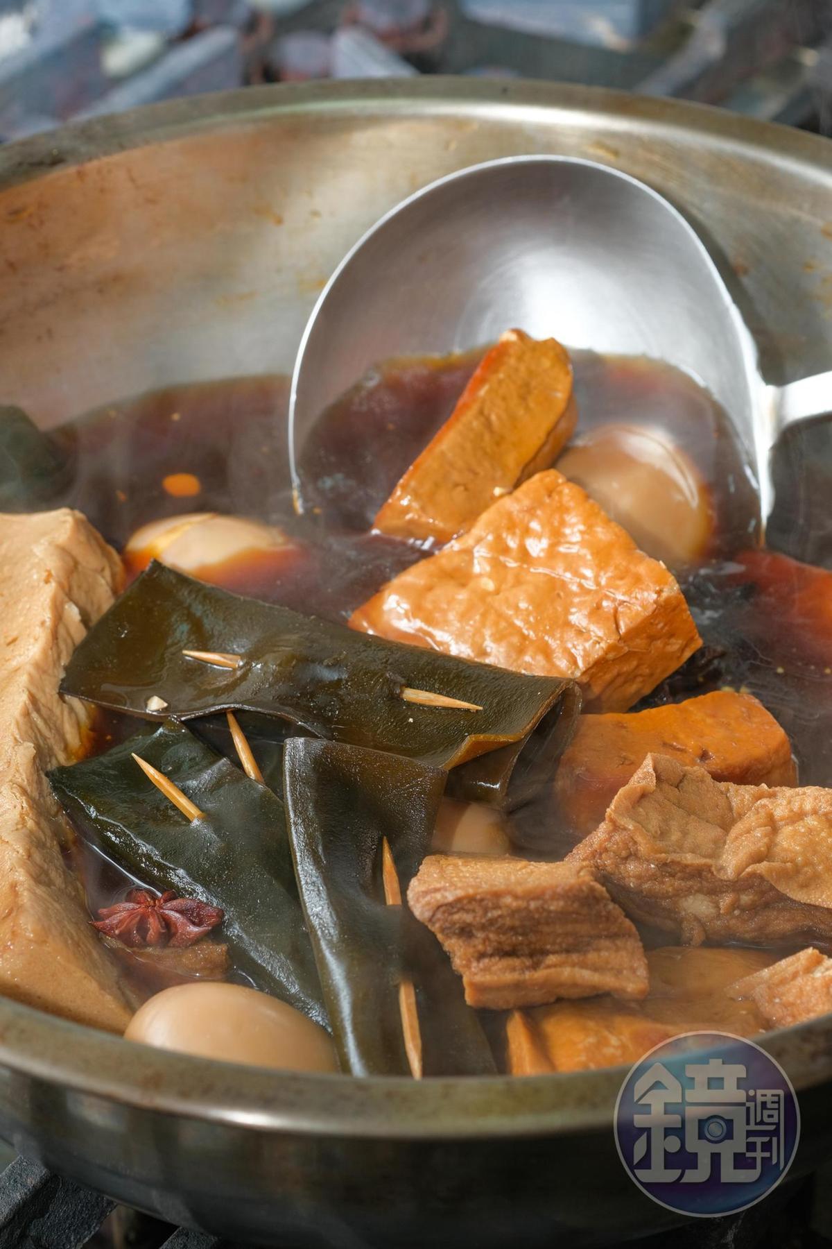 海帶、豆干以滷汁輕滷,不死鹹。