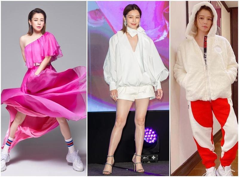 徐若瑄本月份頻頻穿著品牌春季新裝亮相,走在時尚前端。(左圖品牌提供、右圖翻攝自徐若瑄IG)