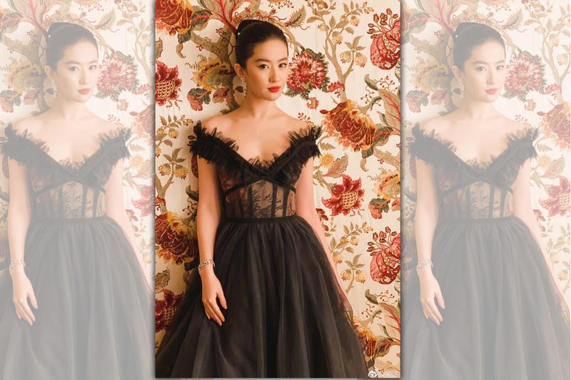 劉亦菲日前出席《花木蘭》美國首映禮時,因以「亞裔」自稱引發軒然大波。(翻攝微博)