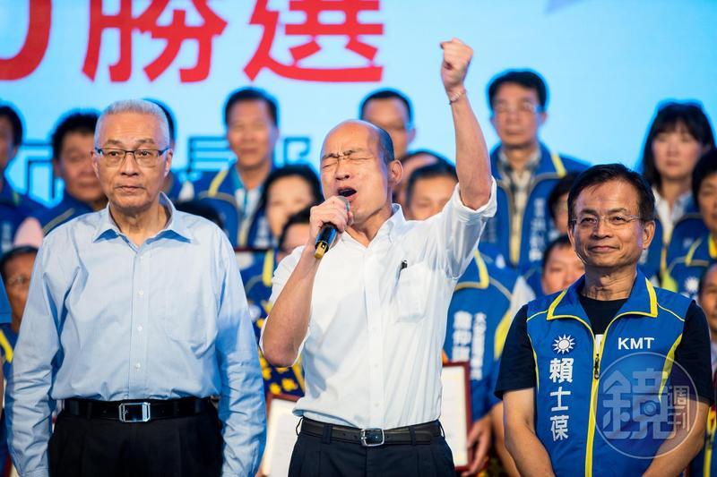 王浩宇爆料,韓國瑜(中)想選桃園市長「而且選得上」。