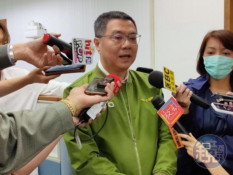 民進黨主席卓榮泰今接受媒體訪問。