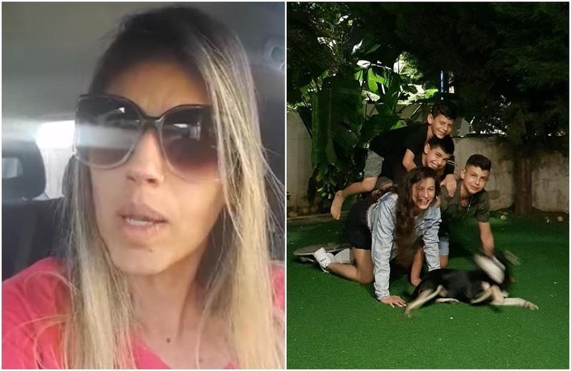 一名以色列媽媽因為4個小孩都待在家中遠距教學而精神崩潰。(翻攝自Shiri Kenigsberg Levi臉書)