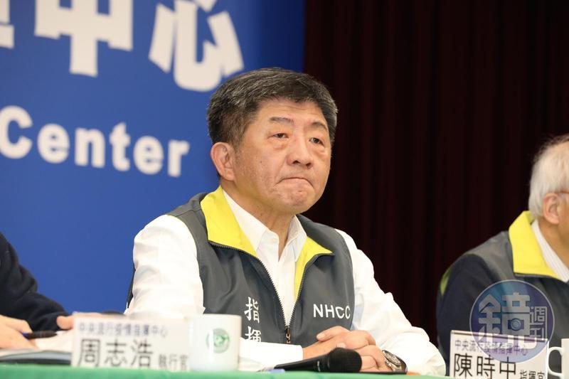 繼陳學聖後,民眾黨於臉書也建議換掉中央流行疫情指揮中心指揮官陳時中(圖)。