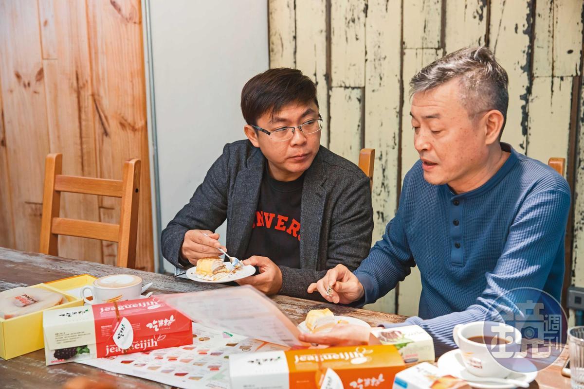 廖憲平找來吳天能(右)與周正捷(左)一起創立塔吉特品牌,2人現在都在台北負責網路行銷工作。