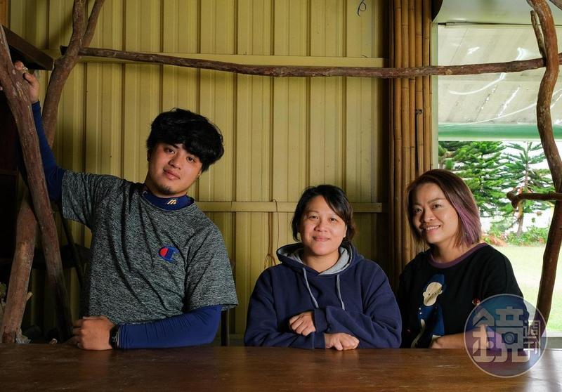傻外、巴奈和淑娟(由左至右)攜手經營「長光新希望廣場」。