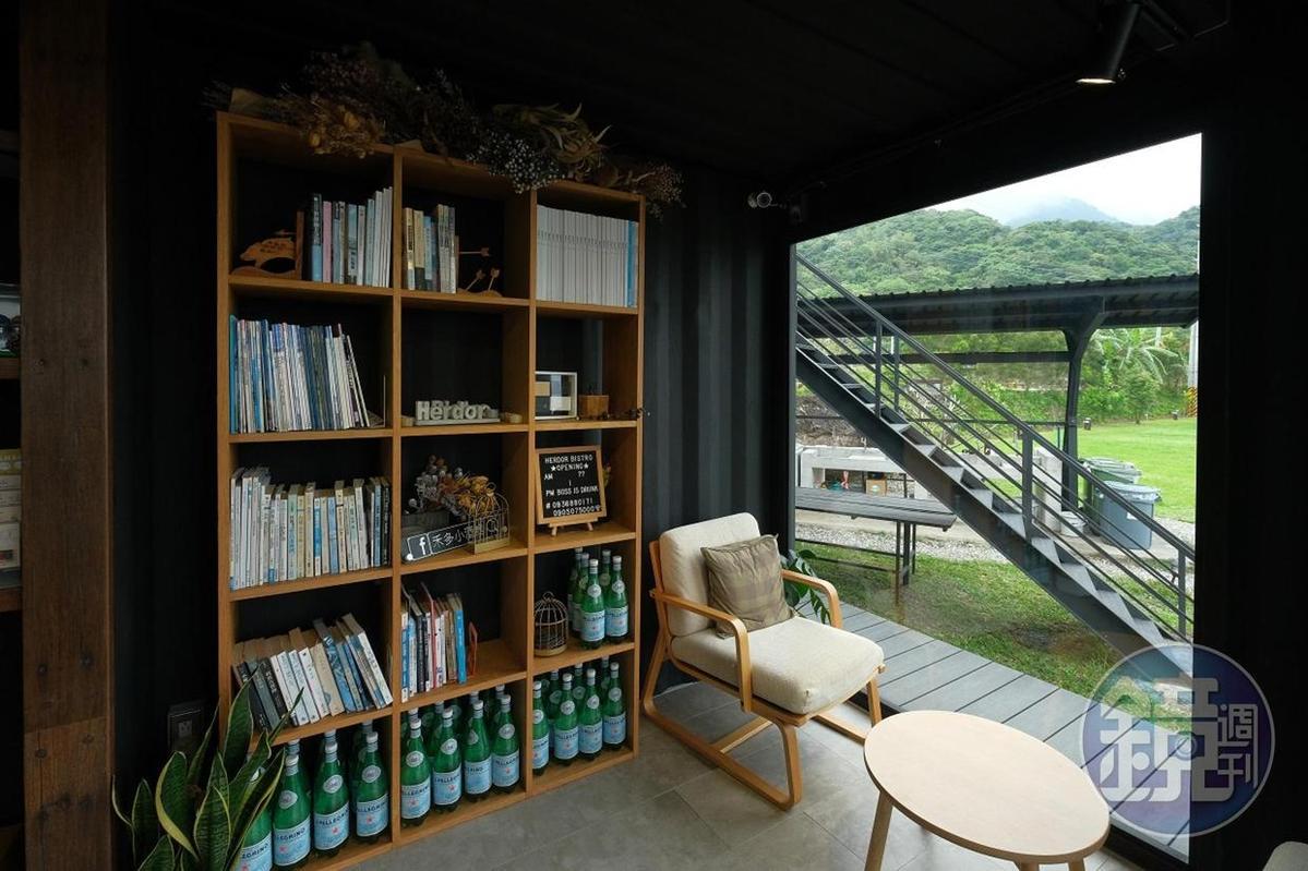 阿翔希望提供旅人一處放鬆閱讀的好地方。