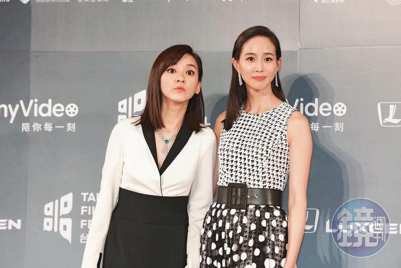 陳意涵(左)和張鈞甯,是演藝圈中出名的好閨密,近日爆出感情生變。