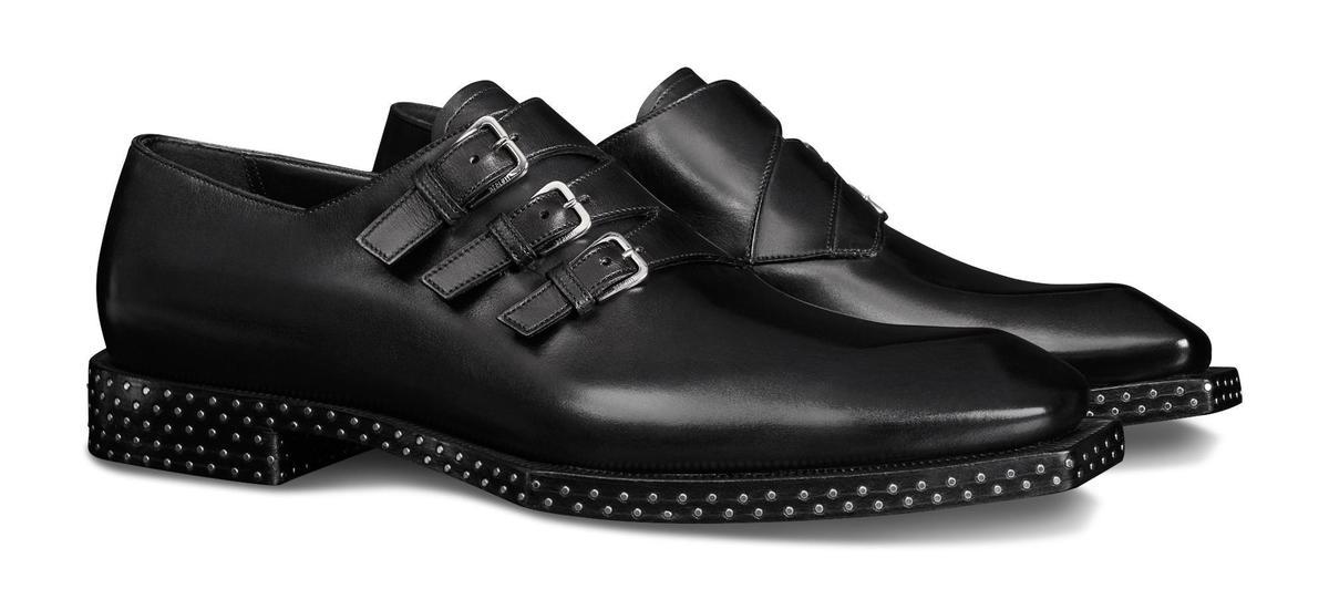 Caractere Edge黑色孟克鞋。NT$86,500(Berluti提供)