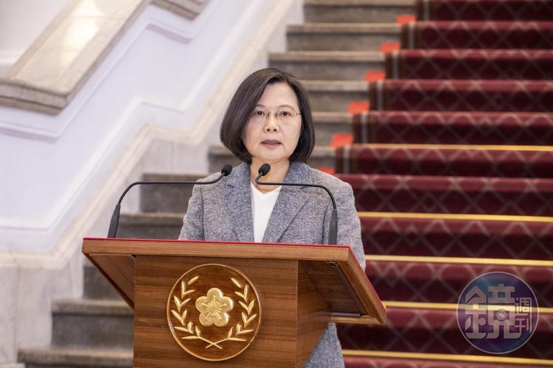 因應疫情期間防疫所需,蔡總統今(1日)上午在總統府敞廳發表談話。(本刊資料照)