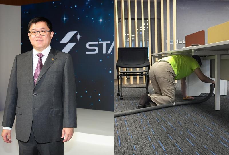 星宇小編今在臉書出賣老闆張國煒,說他忙著當「吸塵男孩」。(翻攝自星宇航空臉書、本刊資料照)