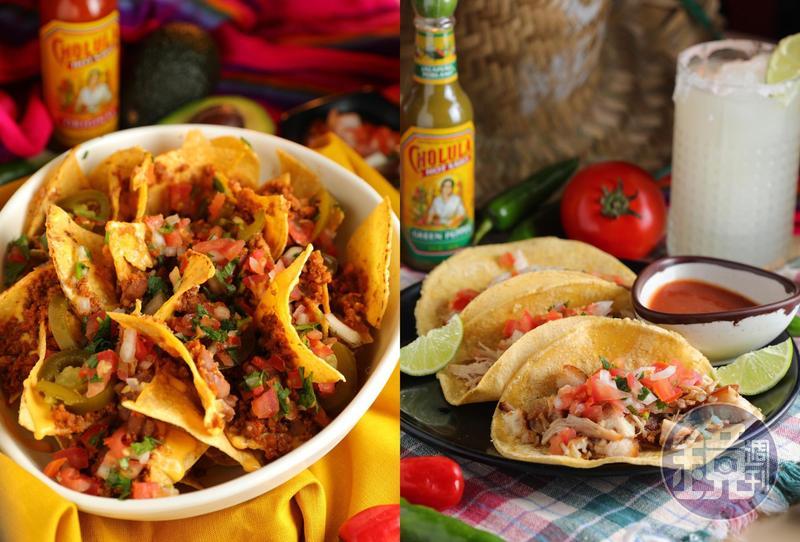 台北大安森林公園附近的「Teotihuacán墨西哥料理」老闆娘在拉丁美洲長大,延請墨西哥籍廚師到台灣,發揚正宗墨式美味。