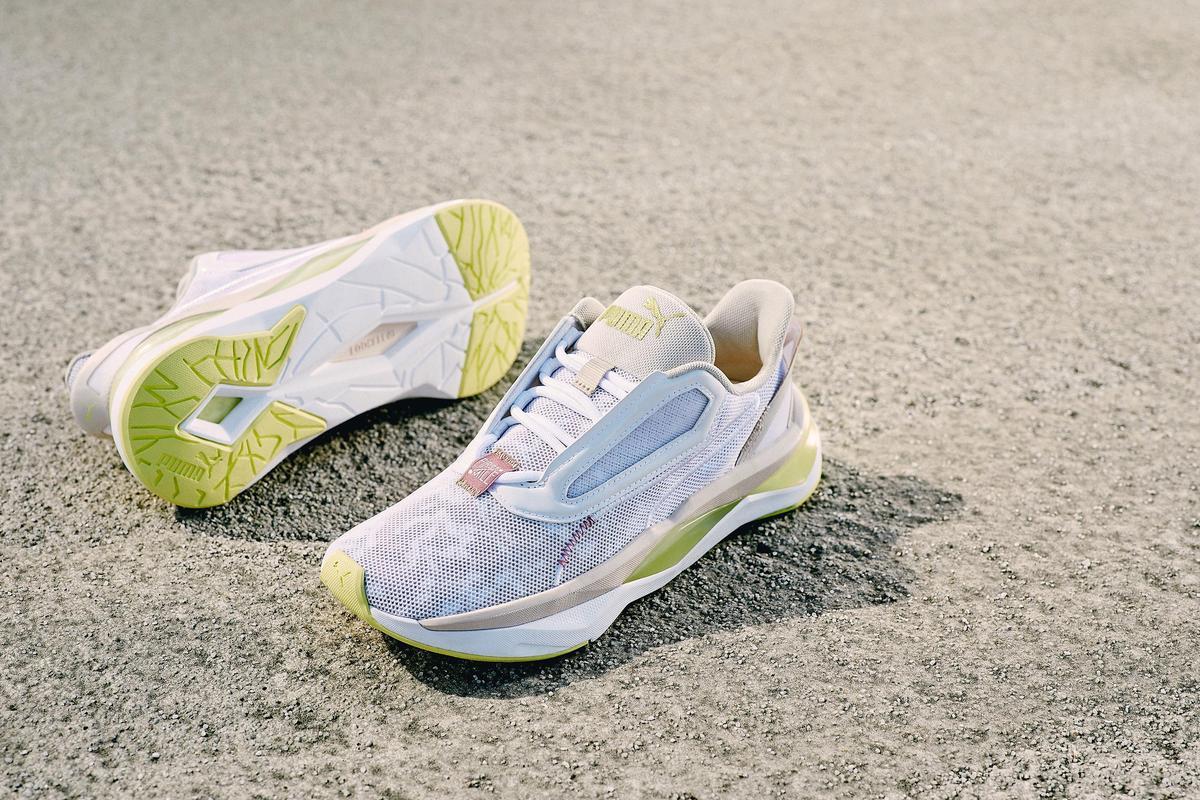 PUMA x First Mile LQDCELL Shatter FM Camo Wn's鞋款。NT$3,280(PUMA提供)