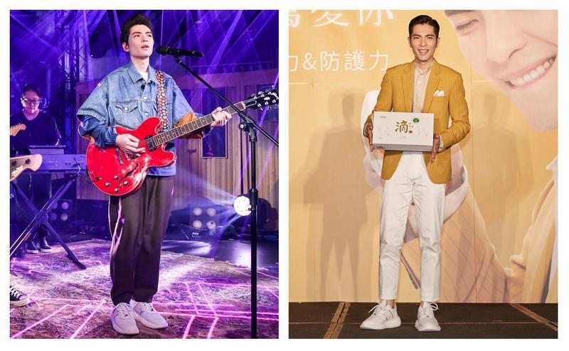 蕭敬騰在《歌手·當打之年》以及出席品牌活動時,都穿上GIUSEPPE ZANOTTI的Urchin運動鞋。(GIUSEPPE ZANOTTI提供)