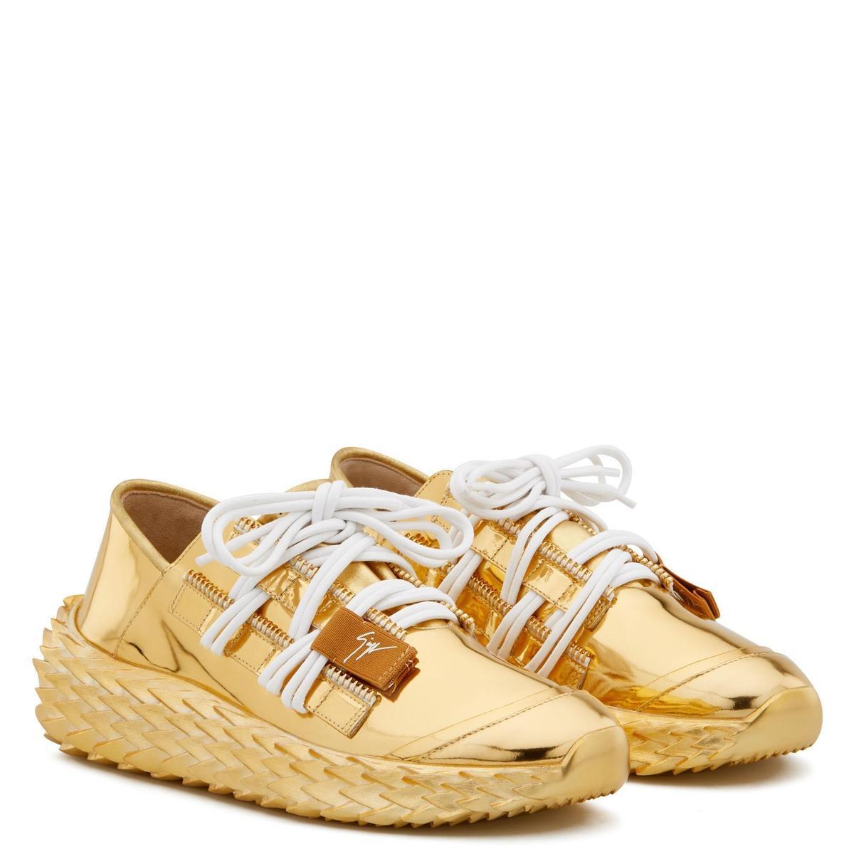 金色Urchin休閒鞋 價格店洽 GIUSEPPE ZANOTTI。(GIUSEPPE ZANOTTI提供)