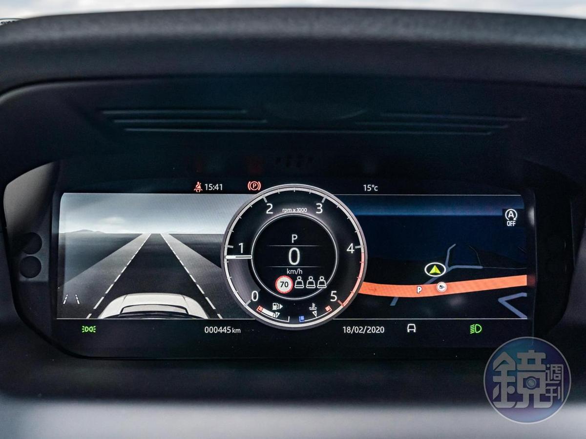 12.3吋全數位化HD虛擬儀錶板可以顯示包含導航在內的多種資訊。