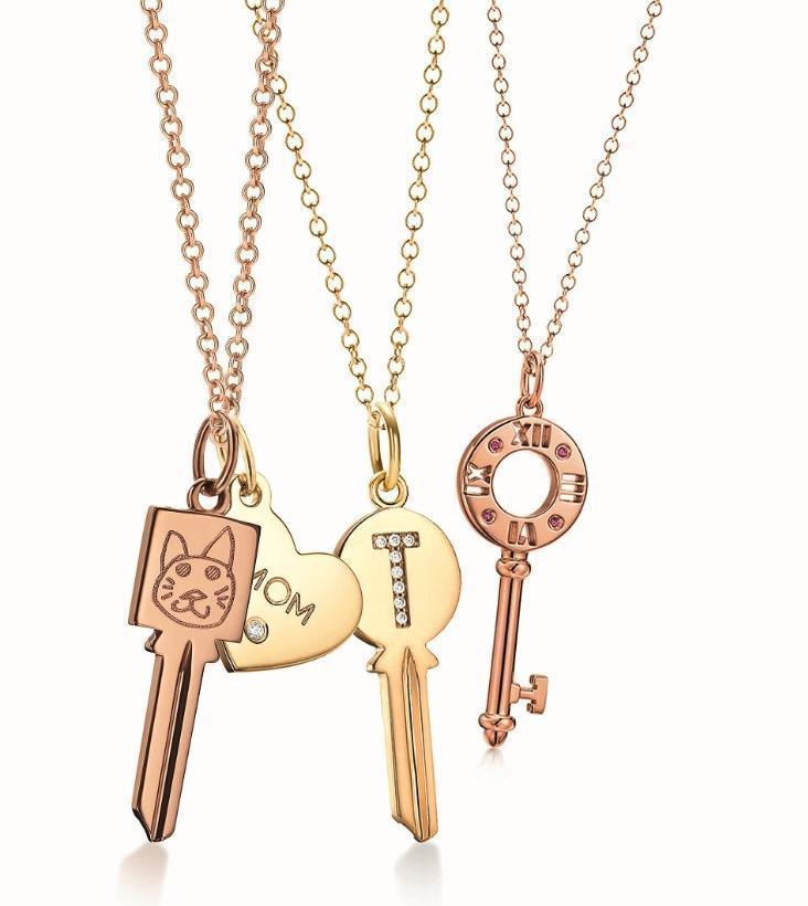 Tiffany Modern Keys鑰匙鍊墜。NT$16,500起〈不含項鍊〉