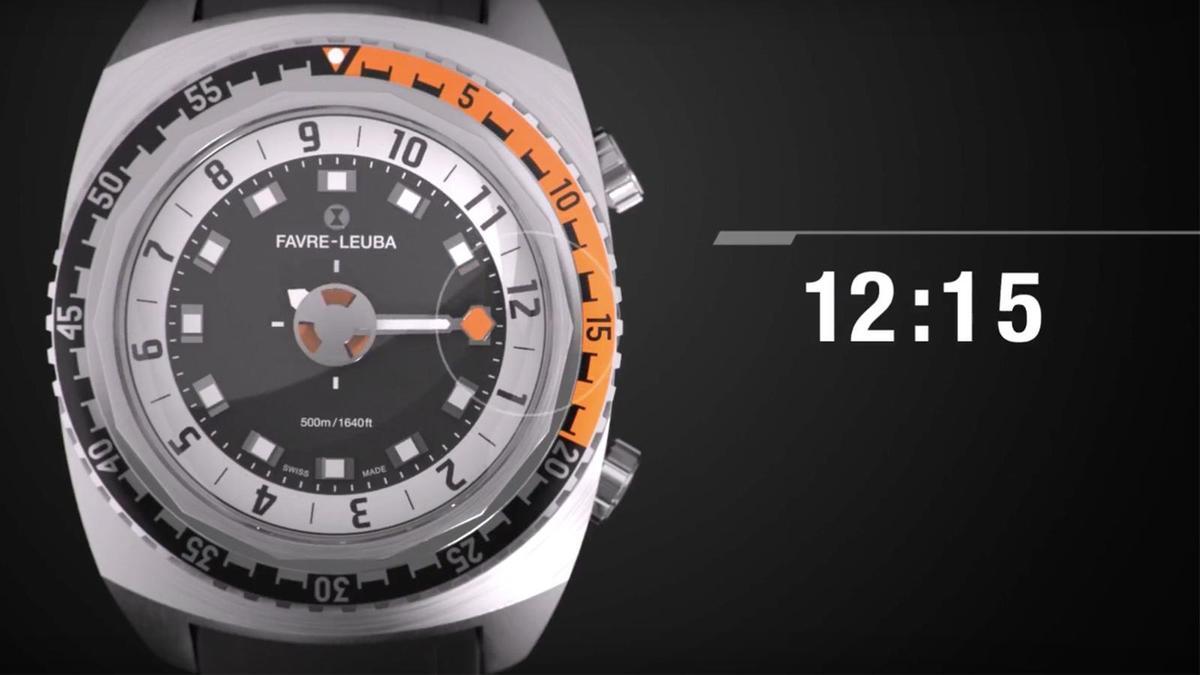 Harpoon以單指針搭配面盤外緣的數字時標、以及錶圈上的分鐘刻度顯示時間,看習慣了之後讀取時間還滿快速的。