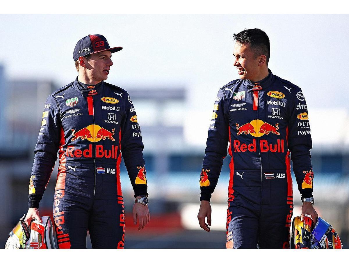 ASTON MARTIN F1紅牛車隊車手Max Verstappen及Alex Albon。