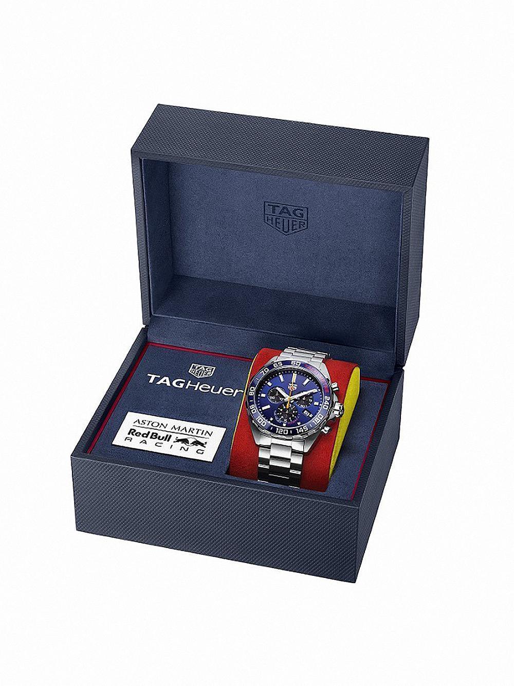 TAG Heuer ASTON MARTIN 紅牛F1車隊2020特別版聯名腕錶。