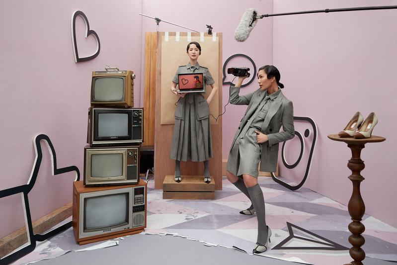 Max Mara本季找來曾之喬與莫莉,以Max Mara 2020 春夏「女特務」的衣櫥為靈感,拍攝一系列時尚大片。(Max Mara提供)