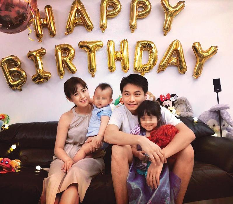 2015年先有後婚,方志友與楊銘威頗年輕就當起爸媽,而且一邊演戲工作,一邊生活,難免有所摩擦。(翻攝自方志友臉書)