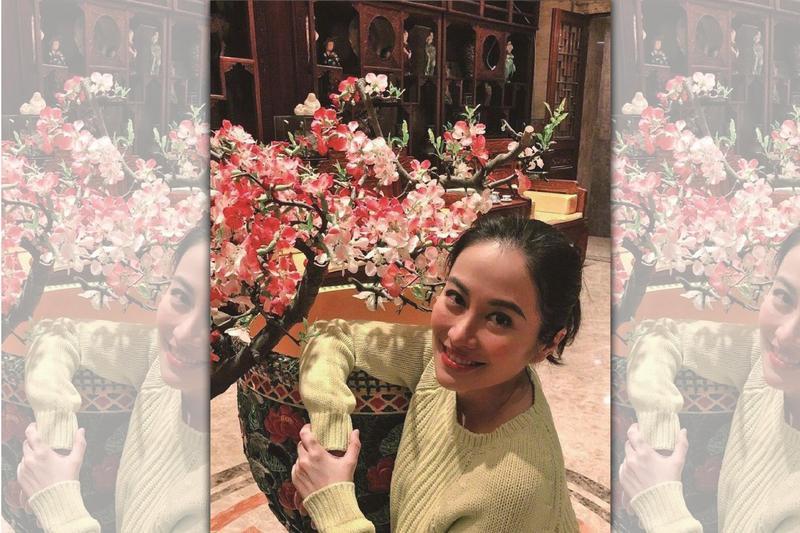 中國大陸女星葉璇自爆曾在私人飯局被一個商場董事長逼喝酒,而且長達一個小時。(翻攝自臉書)