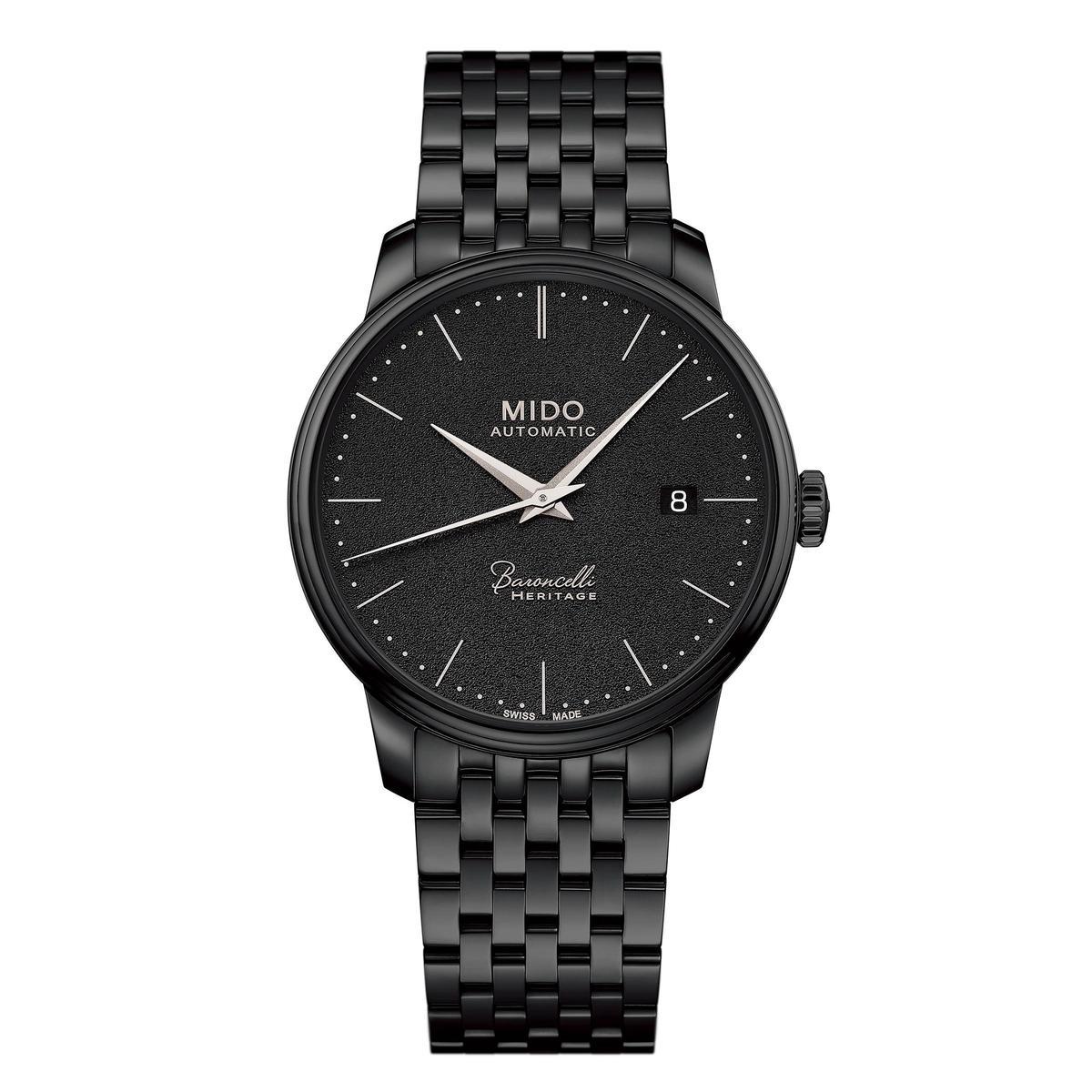 Baroncelli III Heritage全黑版,39mm黑色PVD不鏽鋼錶殼,裝載Caliber 1192自動上鏈機芯,定價NT$39,000。