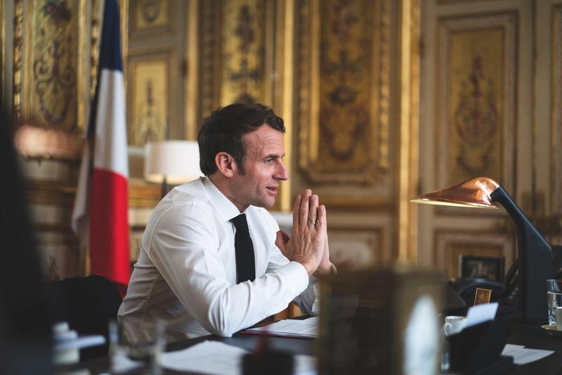 法國總統法克宏是力主對中國改變態度的大將。(翻攝自馬克宏臉書)