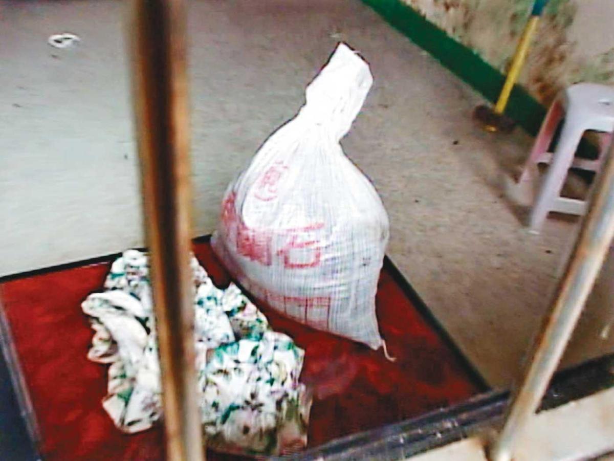 阿宏犯案後,用偷來的水泥將女童封屍。(東森新聞提供)