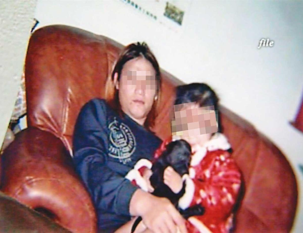阿宏(左)吸毒之後,虐死同居人4歲的女兒(右)。(翻攝畫面)