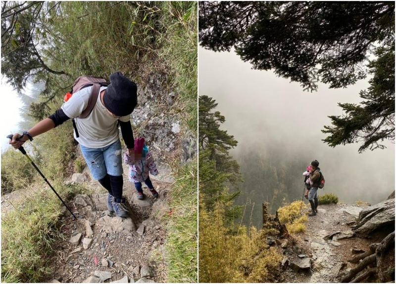 有對爸媽帶3歲女兒爬玉山,將過程記錄po在PTT和臉書,引發網友批評。(翻攝自PTT)