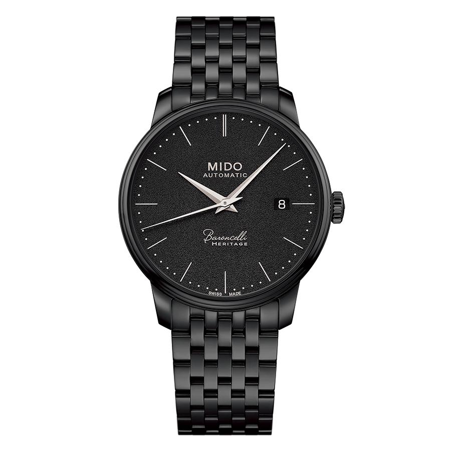 錶徑39mm、黑色PVD不鏽鋼錶殼、時間及日期指示、1192自動上鏈機芯、防水30米、建議售價NTD 39,000