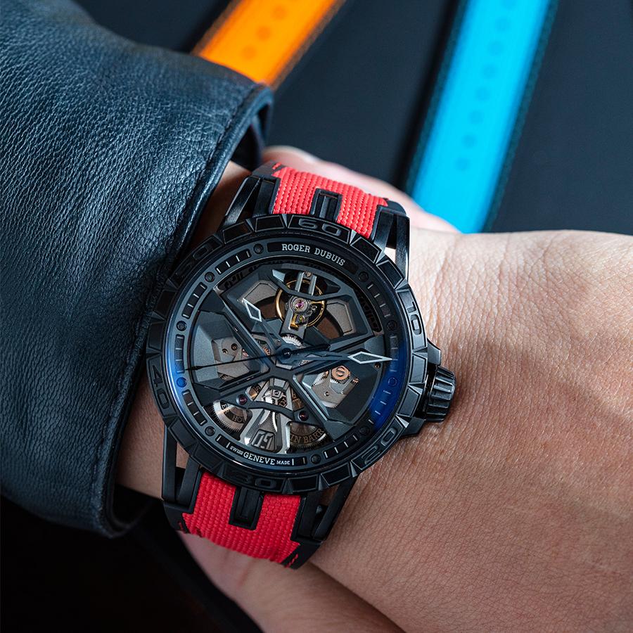 錶徑45mm、黑色鈦金屬錶殼、時間及日期指示、RD630自動上鏈機芯、可替換式快拆錶帶、防水50米、建議售價NTD 1,570,000 (攝影:游銘元)