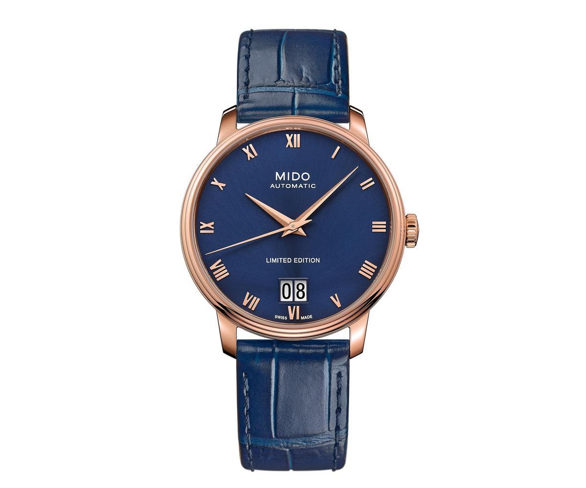 全新Baroncelli III大日期腕錶,限量2020只,後底蓋上刻有限量編號,定價NT$35,500。
