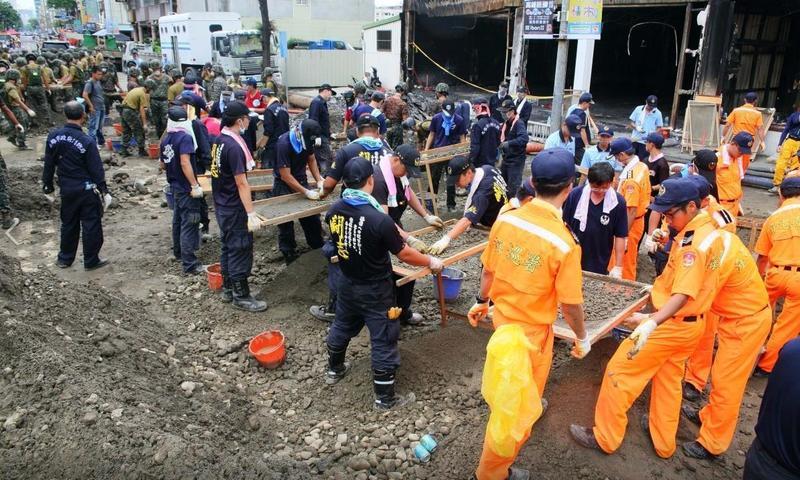 2014年高雄氣爆案,造成32人死亡、321人輕重傷。(翻攝自陳菊臉書)