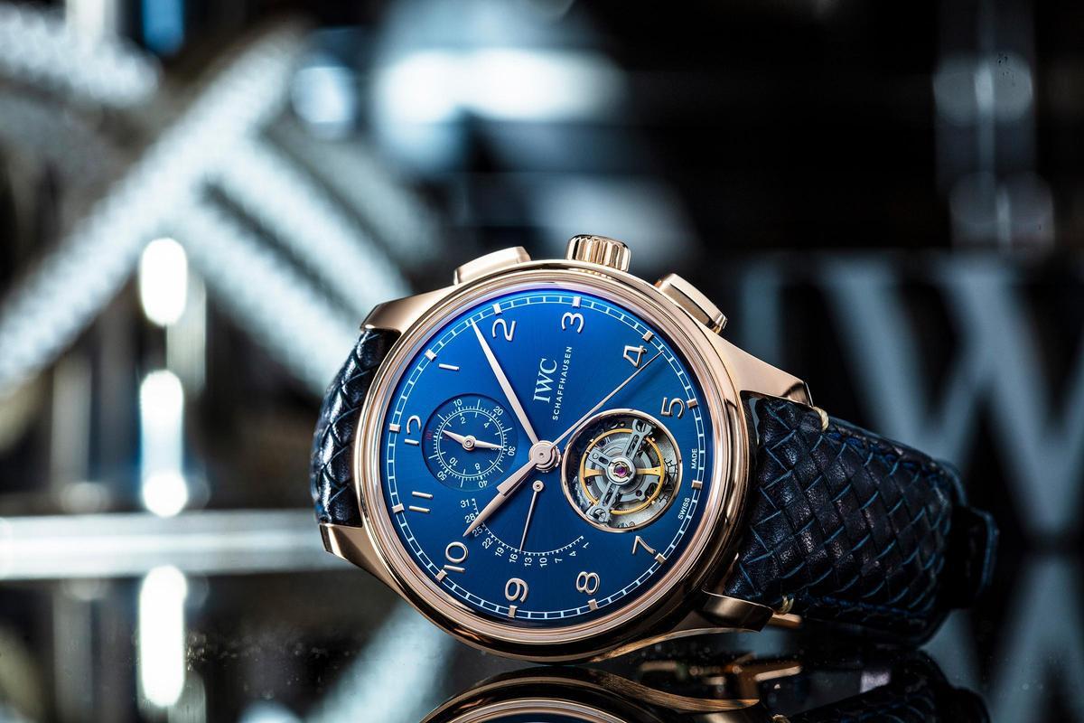 葡萄牙系列陀飛輪逆跳計時碼錶專賣店限定版,全球限量50只,售價電洽。