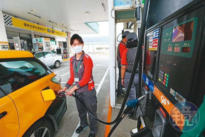 本週一起九五無鉛汽油每公升僅17.6元,創21年來新低。