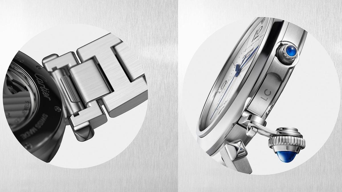 快拆錶帶QuickSwitch系統和個人化刻字的設計,是今年Pasha de Cartier新加入的兩大元素。