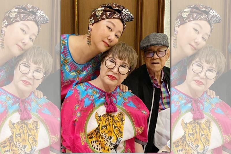 藍心湄自曝喜歡找藍媽媽合照,只因看起來「顯瘦」。(TVBS提供)