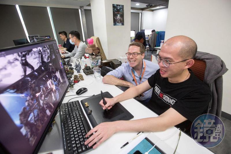 泥巴藝術視覺長的Julien Proux來自法國,來台三年,他認為台灣環境多元開放,適合遊戲開發。