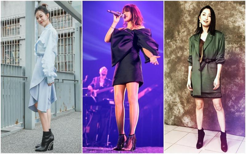 (左起)孟耿如、A-Lin、柯佳嬿都對Christian Louboutin有機玻璃鞋跟鞋款展現濃厚興趣。(Christian Louboutin提供)